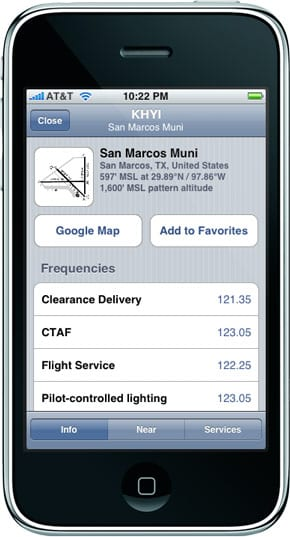 AOPA Airport Directory on iPhone
