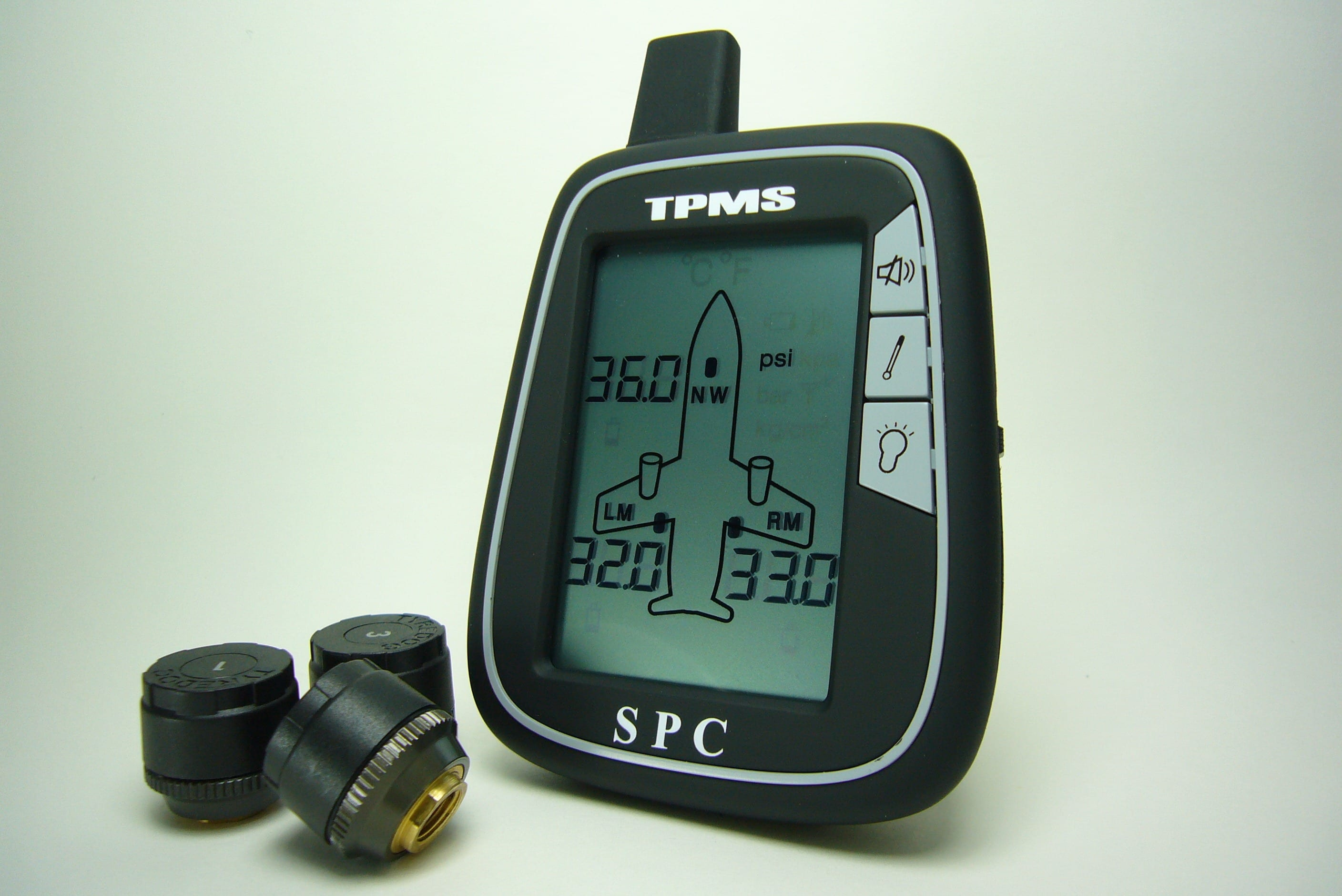Aircraft Spruce carries tire pressure monitor systems