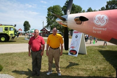 Thrush Aircraft's Jody Bays (left) and Lew Blomeley at AirVenture.