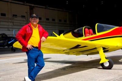 Corkey Fornof, legendary air show and movie pilot, is also the test pilot for the new LoPresti Fury.