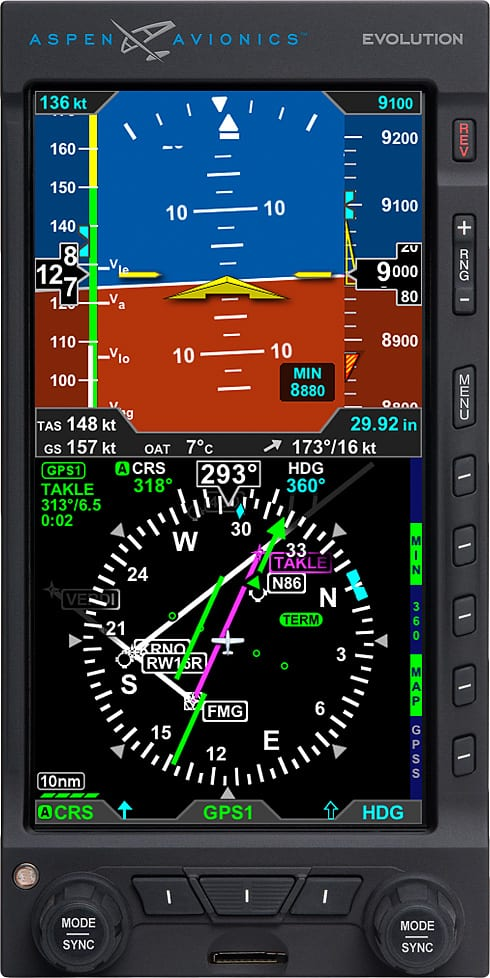 Aspen Evolution STC'd to integrate with Garmin transponder