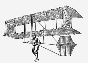 The aircraft that standardized the biplane structure, Chanute's 1896 glider.