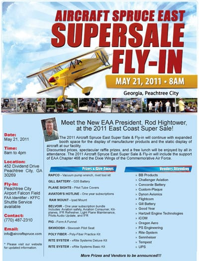 Aircraft Spruce East Supersale Fly-In