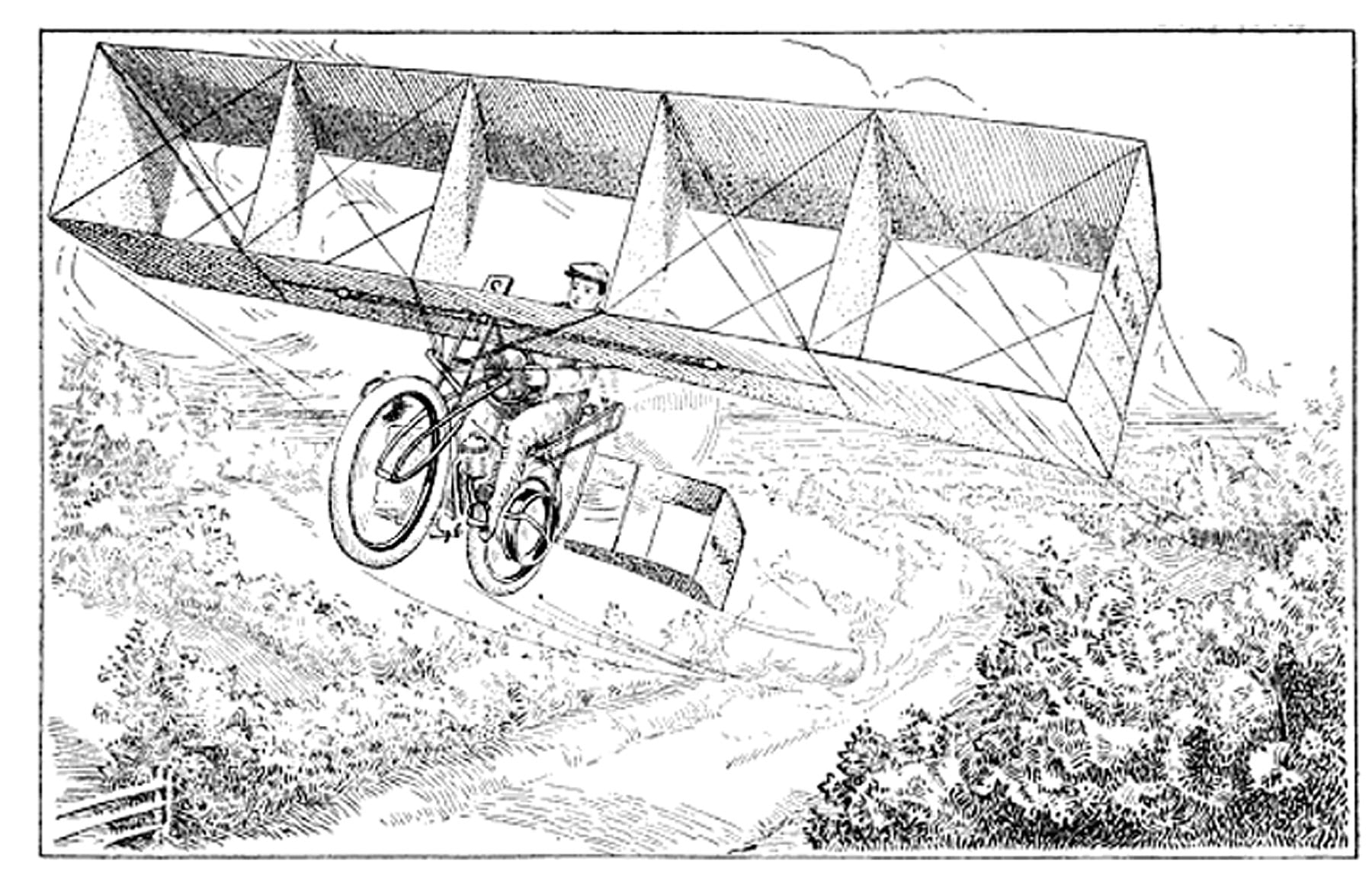 The flying bicycle