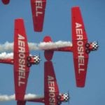 The popular AeroShell Aerobatic Team is just one of many popular airshow performers whose aircraft could be powered by ethanol-free autogas. (photo courtesy EAA)