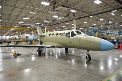 Cessna Mustang #400 rolls off assembly line