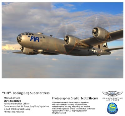 Only airworthy B-29 to tour Florida