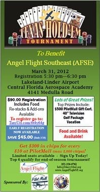 Angel Flight Southeast to host Texas Hold'em tournament at Sun 'n Fun