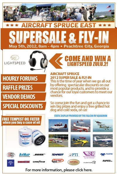 AD: Aircraft Spruce East Supersale & Fly-In