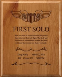 Commemorate your first solo