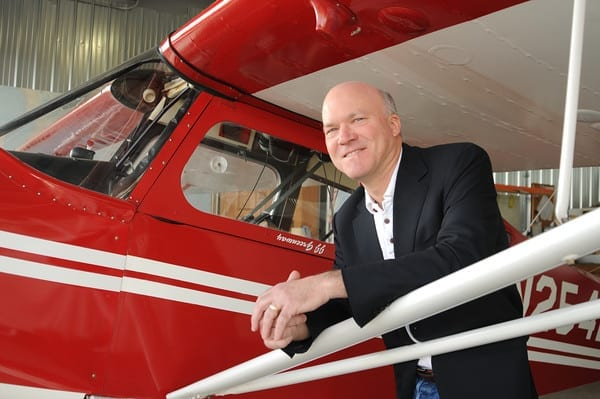 Avemco President JJ Greenway with his Bellanca Decathalon