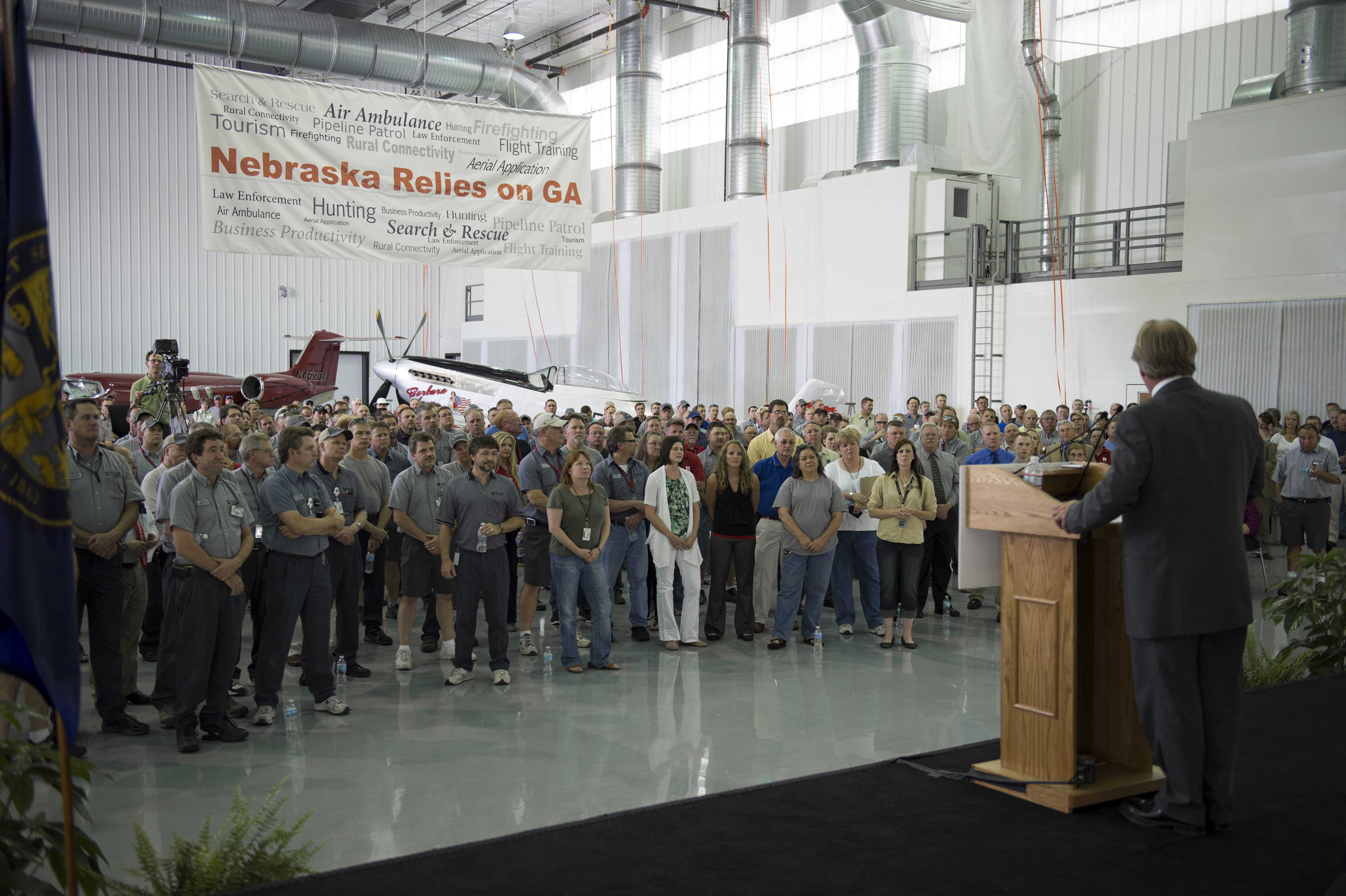 Lawmakers attend general aviation jobs rally