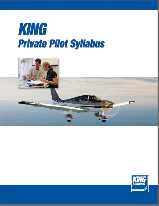 King Schools offer free private and instrument flight training syllabi