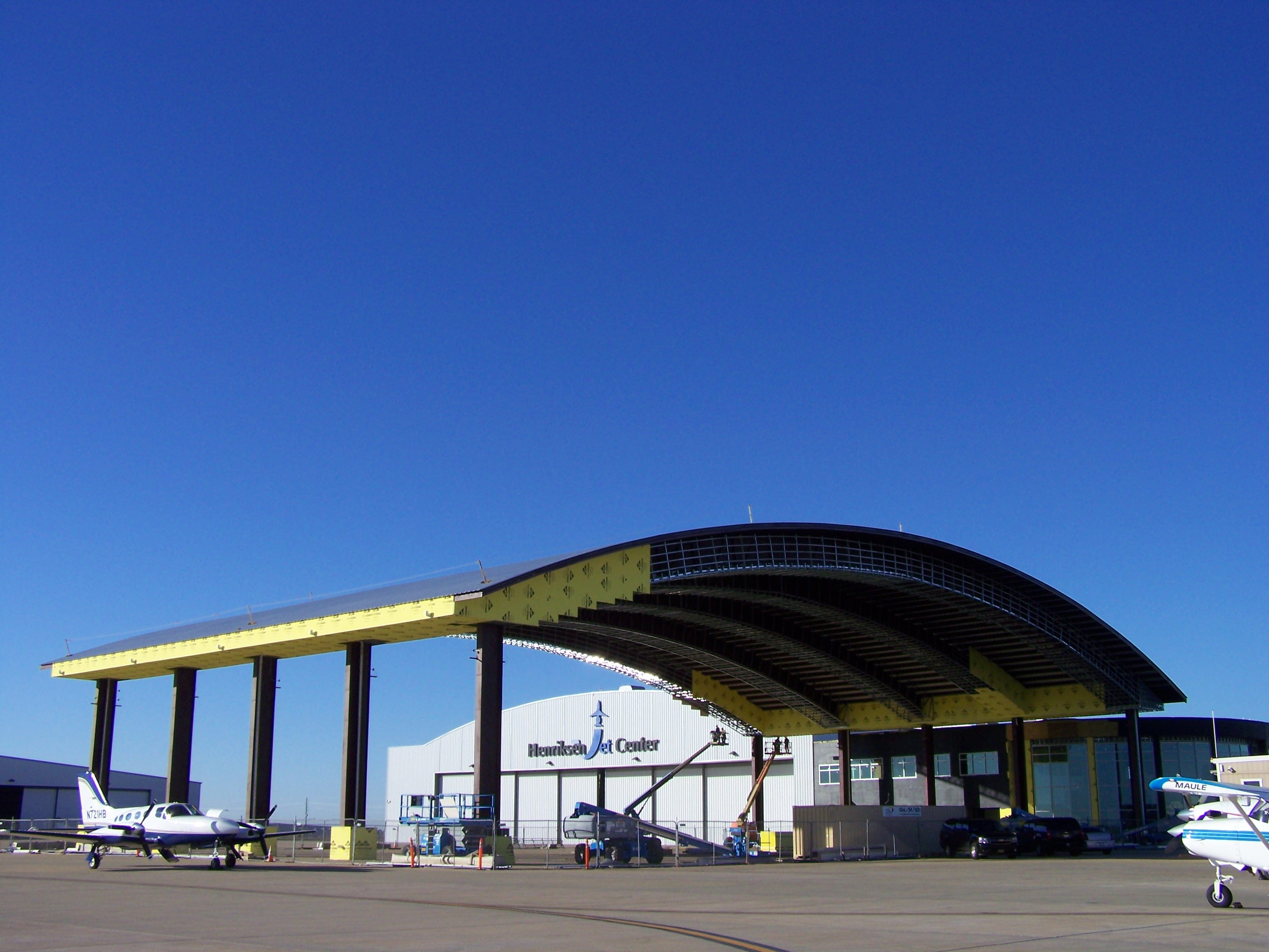 FBO at TME claims to be building world's largest arrival canopy