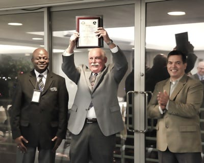 Allen McGregor honored with Charles Taylor Master Mechanic Award