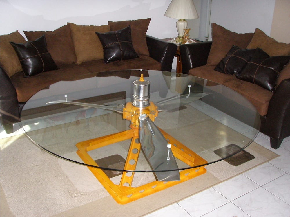 Table Fans Parts : Fan blade coffee table anyone