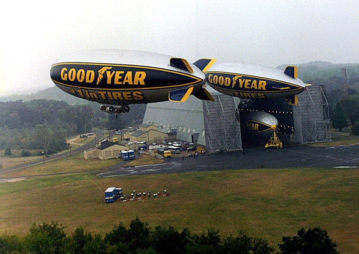 Construction begins on newest Goodyear Blimp