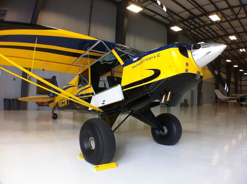 One of two Aviat Husky's on display.