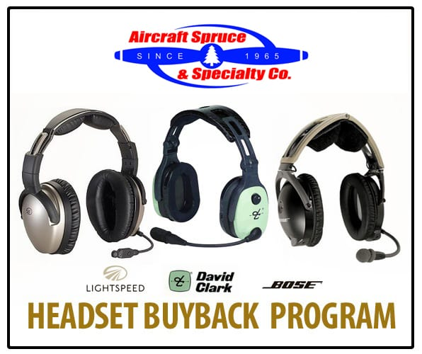 Aircraft Spruce launches headset buy-back program