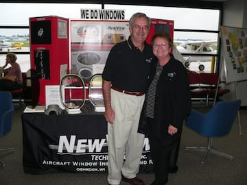 Bruce and Rae Botterman with their display New View Technologies