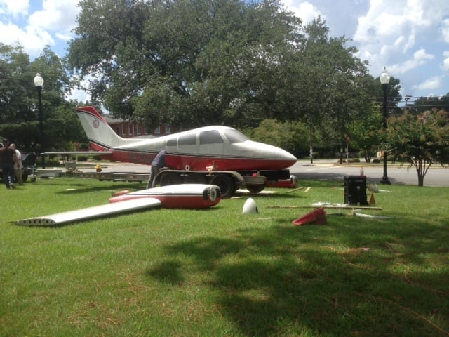Cessna 310 to 'fly' over GMU's new park