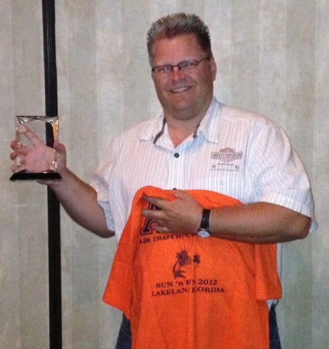 Emberland honored as AirVenture controller of the year