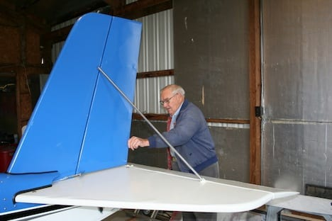 Lowell performs DAR duties for new EAA Chapter 132 AeroMax.