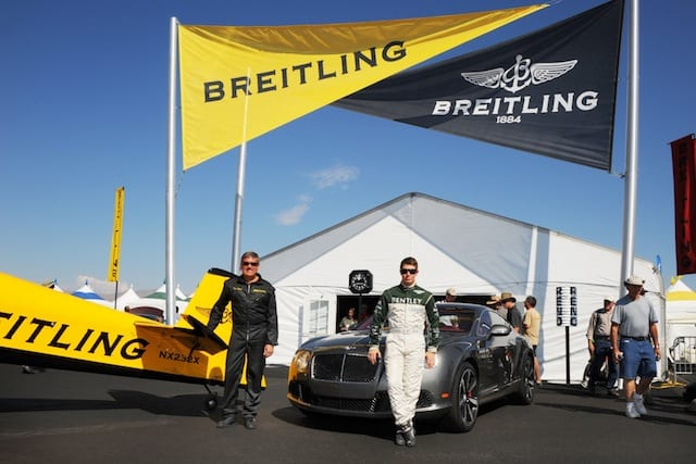 Breitling Pilot David Martin and Race Car Driver Guy Smith