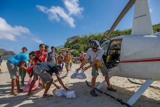 Bringing aid to the Philippines