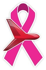 Aviation company donates more than $12,000 to breast cancer research