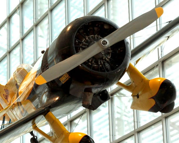 """Image: The Museum of Flight's 1931 Gee Bee Z Super Sportster race plane reproduction was flown in the Disney movie, """"The Rocketeer."""" Ted Huetter/The Museum of Flight, Seattle."""