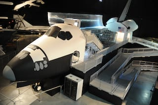 New space shuttle exhibit opens at Air Force museum
