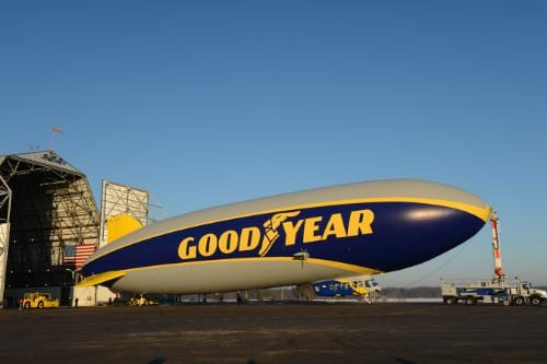 Goodyear unveils new blimp, launches contest to find name