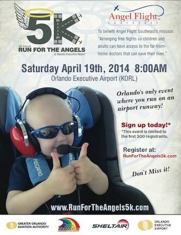 Run For The Angels 5K slated at ORL April 19