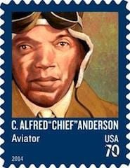Tuskegee Airman immortalized on a stamp