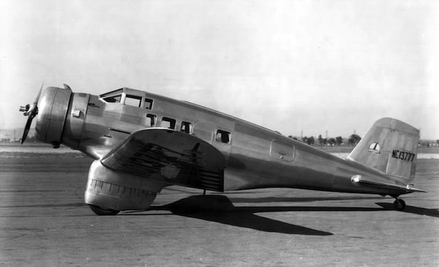 The first task undertaken by Max Conrad as chief pilot for Honeywell was to rebuild this Northrop Delta as an executive aircraft. He would later purchase the aircraft for his own use.