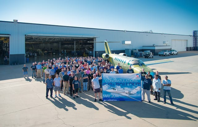 First production Citation CJ3+ rolls off manufacturing line