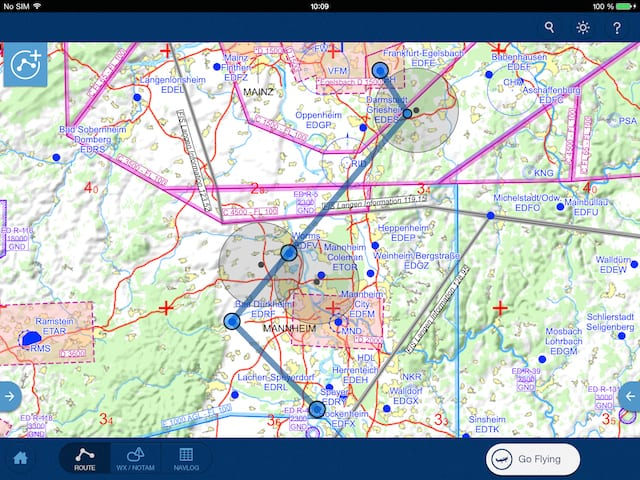 Jeppesen Mobile FliteDeck VFR Graphical NOTAMs