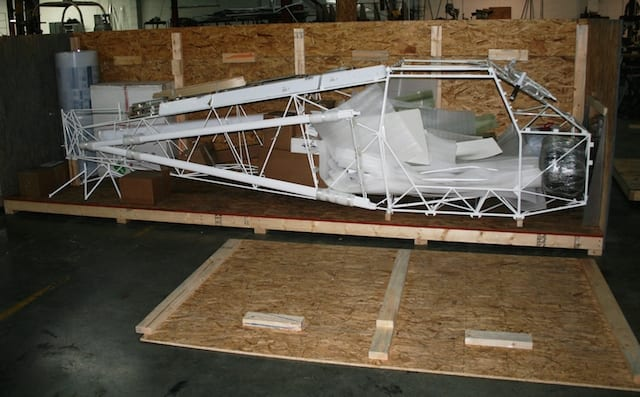 Just Aircraft in crate