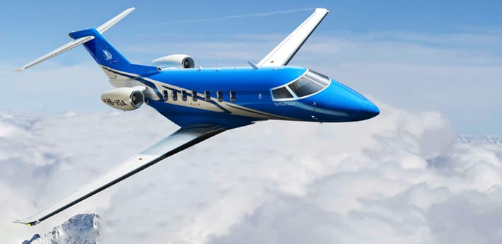Parker Aircraft wheels and brakes featured on Pilatus PC-24