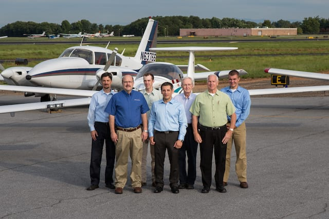 Pictured are (from left to right): Mike Gonzales, Brett Zukowski, Charles Baize,  Dimitri Partafyllas, Cecil Tune, Tom Burke and Stephen Horner
