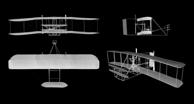Smithsonian unveils laser-scanned 3D model of Wright Flyer