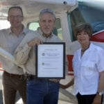 "Photo Caption: BFC's Fred Webster, William Woodbury and Janice Sullivan were also named to AOPA's ""Top 100 Flight Instructors"" for 2014."