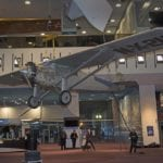 National Air and Space Museum lowers 'Spirit of St. Louis' to ground level