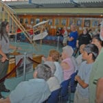 National Park Ranger Amanda Clark presents the story of the Wright Brothers at Kitty Hawk.