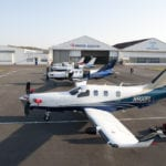 The first four TBM 900s are shown prior to their departure from DAHER-SOCATA's Tarbes, France factory in March last year for delivery to customers