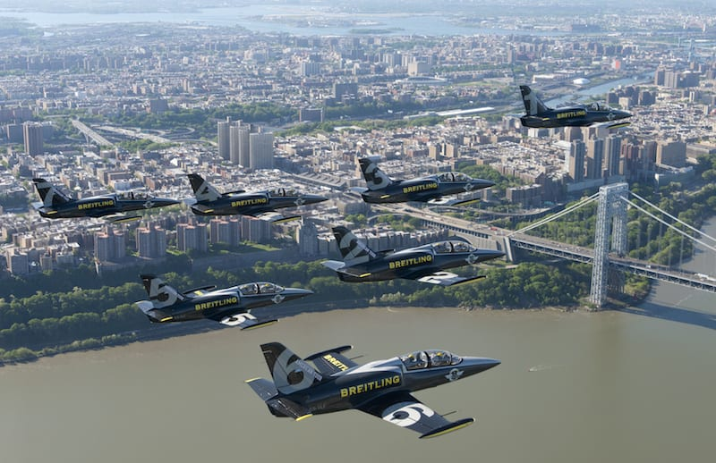 The Breitling Jet Team flies L39C Albatross jets.