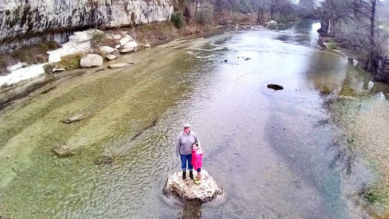 On the scenic Guadalupe River