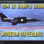 Video: F-104 to be unveiled at Nampa museum