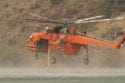 The Erickson Skycrane that had been on display at the airshow helped fight the fire. Photo by Tom Brown